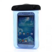 Αδιάβροχη Θήκη με Διαστάσεις 140 x 100mm για Κινητά όπως iphone 5 / 4 / galaxy S3 / S4 - Μπλε