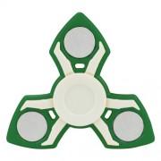 Fidget Spinner Παιχνίδι Αντιστρες Αλουμινίου και Πλαστικού με Τρεις Έλικες (Χρόνος περιστροφής 2 Λεπτά) - Πράσινο