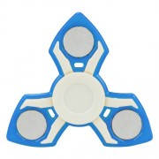 Fidget Spinner Παιχνίδι Αντιστρες Αλουμινίου και Πλαστικού με Τρεις Έλικες (Χρόνος περιστροφής 2 Λεπτά) - Μπλε