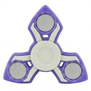 Fidget Spinner Παιχνίδι Αντιστρες Αλουμινίου και Πλαστικού με Τρεις Έλικες (Χρόνος περιστροφής 2 Λεπτά) - Μωβ