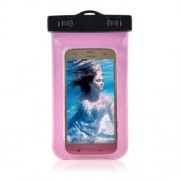 Waterproof Diving Bag Cover for Samsung iPhone Sony, Size: 20.5 x 11.5 x 1.5cm - Pink