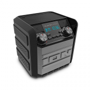 ION Tailgater GO (Express) Compact Wireless Portable Bluetooth Speaker System, with rechargable battery, IPX4 splash-resistance, FM-AM Radio, Microphone input for public speaking, karaoke and more & NFC function - Black