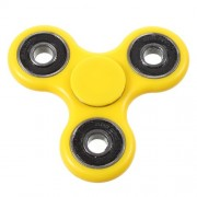 Fidget Spinner Παιχνίδι Αντιστρες από Υλικό ABS με Τρεις Έλικες (Χρόνος περιστροφής 2 Λεπτά) - Κίτρινο
