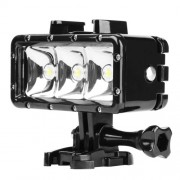 SHOOT Αδιάβροχος Προβολέας LED που Προσαρμόζεται Πάνω του Κάμερα όπως GoPro / SJCAM / Xiaomi (ως Βάθος Κατάδυσης 30 μέτρα) - Μαύρο