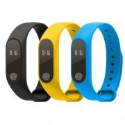 M2 Smart Watch Ρολόι με Bluetooth 4.0 (Heart Rate, Sleep Monitor) - Κίτρινο