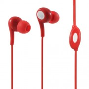LANGSTON JD-91 In-ear Earbuds with Mic for iPad iPhone Samsung - Red