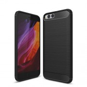 Carbon Fibre Brushed TPU Case for Xiaomi Mi 6 - Black