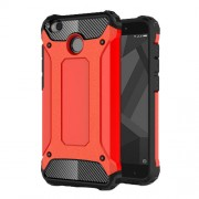 Armor Guard Plastic + TPU Hybrid Case Shell for Xiaomi Redmi 4X - Red