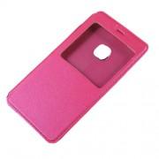 Δερμάτινη Θήκη Βιβλίο Smart Cover με Βάση Στήριξης για Huawei P10 Lite - Φούξια
