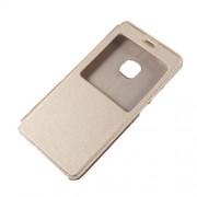 Δερμάτινη Θήκη Βιβλίο Smart Cover με Βάση Στήριξης για Huawei P10 Lite - Χρυσαφί