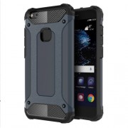 Armor Guard Plastic + TPU Hybrid Case Accessory for Huawei P10 Lite - Dark Blue