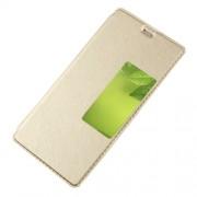 Δερμάτινη Θήκη Βιβλίο Smart Cover με Βάση Στήριξης για Huawei P10 - Χρυσαφί
