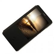 MOSHUO Δερμάτινη Θήκη Βιβλίο Smart Cover για Huawei Ascend Mate7 - Μαύρο