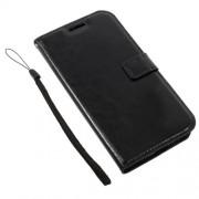 Δερμάτινη Θήκη Πορτοφόλι με Βάση Στήριξης για Motorola Moto G5 - Μαύρο