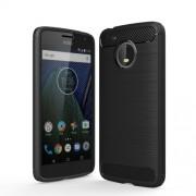 Θήκη Σιλικόνης TPU Carbon Fiber Brushed για Motorola Moto G5 - Μαύρο