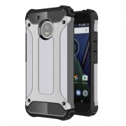 Armor Guard Plastic + TPU Hybrid Phone Case for Motorola Moto G5 - Grey