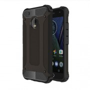 Armor Guard Plastic + TPU Hybrid Case for Motorola Moto G5 Plus - Black
