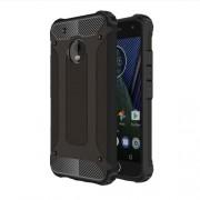 Tough Armor Υβριδική Θήκη Σιλικόνης TPU σε Συνδυαμό με Πλαστικό για Motorola Moto G5 Plus - Μαύρο