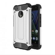 Tough Armor Υβριδική Θήκη Σιλικόνης TPU σε Συνδυαμό με Πλαστικό για Motorola Moto G5 Plus - Ασημί