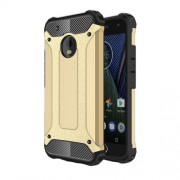 Armor Guard Plastic + TPU Hybrid Cover Case for Motorola Moto G5 Plus - Gold