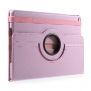 360 Degree Rotary Stand Litchi Texture Leather Casing Accessory for iPad 9.7 (2017) / 9.7 (2018) - Pink