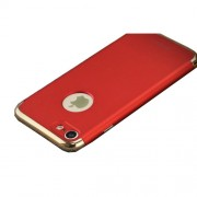 IPAKY 3-in-1 Electroplating Hard PC Back Case for iPhone 7 4.7 inch - Red