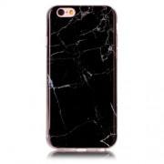 Θήκη Σιλικόνης TPU Σχέδιο Μάρμαρο για iPhone 6s / 6 - Μαύρο