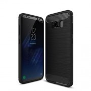 Carbon Fibre Brushed TPU Case for Samsung Galaxy S8 Plus - Black