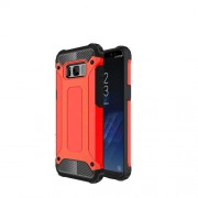 Armor Guard Plastic + TPU Hybrid Phone Case for Samsung Galaxy S8 Plus - Red