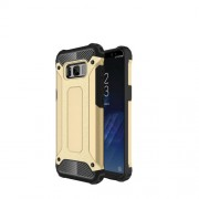 Armor Guard Plastic + TPU Hybrid Protective Case for Samsung Galaxy S8 Plus - Gold