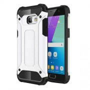Heavy Duty Rugged Hybrid Mobile Phone Cover (Plastic + TPU) for Samsung Galaxy A3 (2017) - White