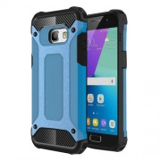 Heavy Duty Rugged Hybrid Cell Phone Casing (Plastic + TPU) for Samsung Galaxy A3 (2017) - Baby Blue