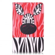 Leather Case Card Holder for Samsung Galaxy Tab A 10.1 (2016) T580 T585 - Lovely Zebra