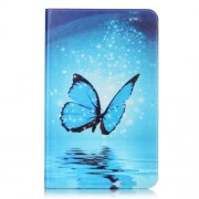 Stand Leather Cover for Samsung Galaxy Tab A 10.1 (2016) T580 T585 - Shiny Blue Butterfly