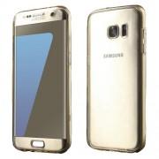 Θήκη Σιλικόνης TPU Πλάτης και Πρόσοψης για Samsung Galaxy S7 edge G935 - Χρυσαφί