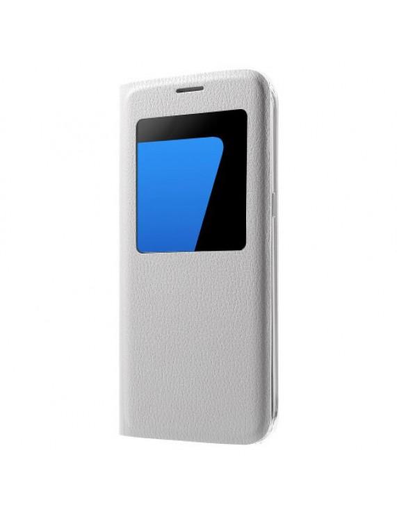 8c2c7f814e Δερμάτινη Θήκη Βιβλίο Smart Cover για Samsung Galaxy S7 edge G935 - Λευκό  (50009636) by stoucky.gr
