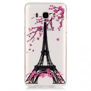 Transparent IMD TPU Back Cover for Samsung Galaxy J5 (2016) - Eiffel Tower