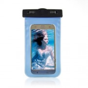 Waterproof Diving Bag Cover for Samsung iPhone Sony, Size: 20.5 x 11.5 x 1.5cm - Blue