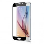 3D Curved Tempered Glass Screen Film for Samsung Galaxy S6 G920 Silk Print Full Size - Black