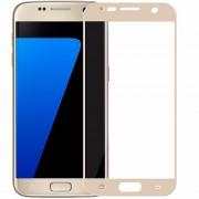 Σκληρυμένο Γυαλί (Tempered Glass) Προστασίας Οθόνης Πλήρης Κάλυψης (Ιαπωνικό Γυαλί Asashi) για Samsung Galaxy S7 G930 - Χρυσαφί