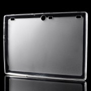Θήκη Σιλικόνης TPU Ματ με Γυαλιστερά Άκρα για Lenovo Tab 2 A10-70 10.1 - Διάφανο