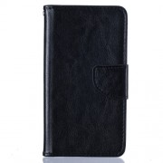 Crazy Horse Leather Wallet Case for Huawei Ascend P8 Lite - Black