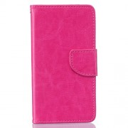 Solid Color Flip Leather Stand Case for Samsung Galaxy J3 / J3 (2016) - Rose