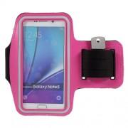 Θήκη Βραχίονα για Σπορ για Samsung Galaxy S7 Edge / S6 Edge Plus / Note 5 - Φούξια