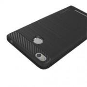 IPAKY Λεπτή Θήκη Σιλικόνης TPU Brushed με Διακόσμηση Carbon Fiber για Xiaomi Redmi 3s - Γκρι
