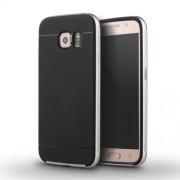 IPAKY Υβριδική Θήκη Συδυασμού Σιλικόνης TPU και Πλαστικού για Samsung Galaxy S6 G920 - Ασημί/Μαύρο