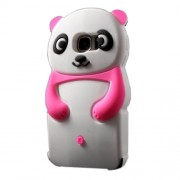 Cute 3D Panda Silicone Phone Cover for Samsung Galaxy S7 G930 - Rose