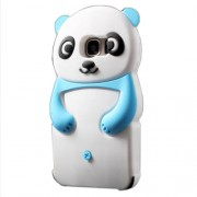 Cute 3D Panda Silicone Jelly Case for Samsung Galaxy S7 G930 - Blue