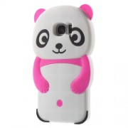 3D Cute Panda Silicone Cover for Samsung Galaxy S7 edge G935 - Rose