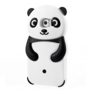 3D Panda Silicone Case for Samsung Galaxy S6 G920 - Black